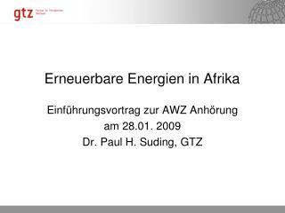 Erneuerbare  Energien  in  Afrika