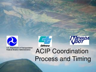 ACIP Coordination  Process and Timing