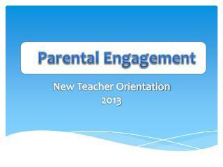 New Teacher Orientation 2013