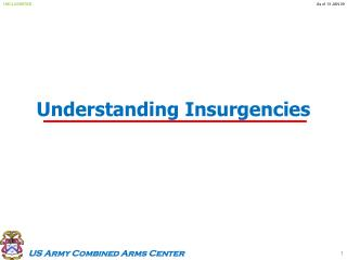 Understanding Insurgencies