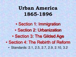 Urban America 1865-1896