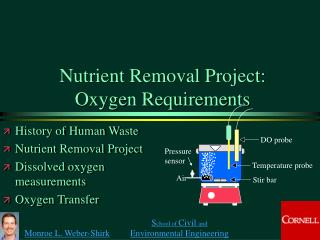 Nutrient Removal Project: Oxygen Requirements