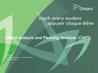 Capital Analysis and Planning Template (CAPT)