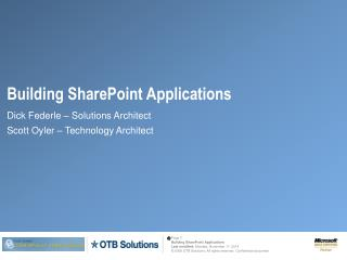 Building SharePoint  Applications