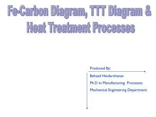 Fe-Carbon Diagram, TTT Diagram &  Heat Treatment Processes