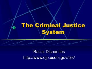 The Criminal Justice System
