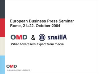 European Business Press Seminar Rome, 21./22. October 2004