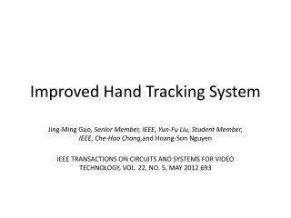 Improved Hand Tracking System