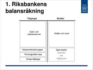 1. Riksbankens balansräkning