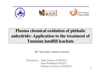 Plasma chemical oxidation of phthalic anhydride: Application to the treatment of Tunisian landfill leachate