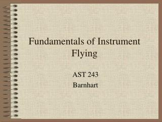 Fundamentals of Instrument Flying