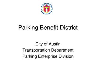 Parking Benefit District