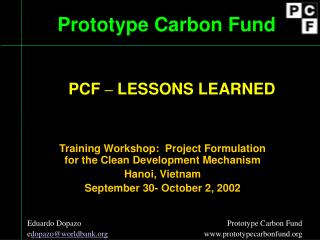 Prototype Carbon Fund