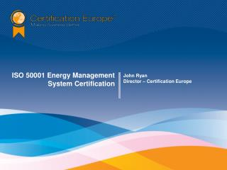 ISO 50001 Energy Management System Certification