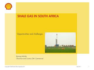 Shale Gas in South Africa