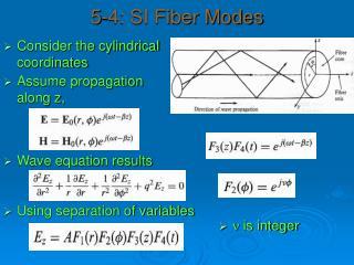 5-4: SI Fiber Modes