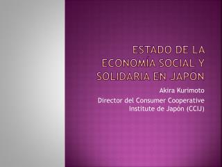 Estado de la economía social y solidaria en Japón