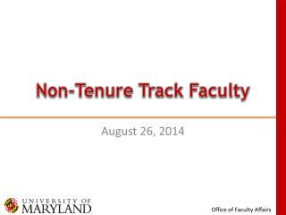 Non-Tenure Track Faculty