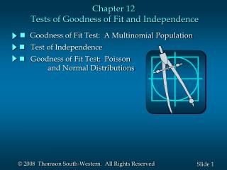 Chapter 12  Tests of Goodness of Fit and Independence