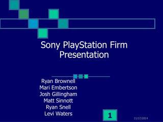 Sony PlayStation Firm Presentation