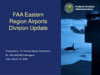 FAA Eastern Region Airports Division Update