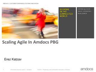 Scaling Agile In Amdocs PBG