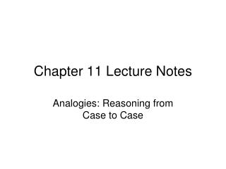 Chapter  11 Lecture Notes