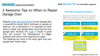Riverside Garage Door Experts