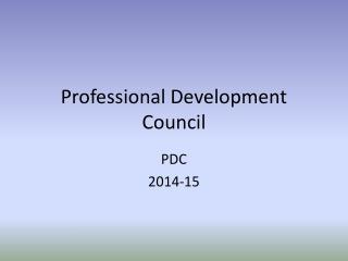 Professional Development Council