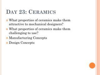 Day 23: Ceramics
