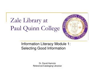 Zale Library at Paul Quinn College