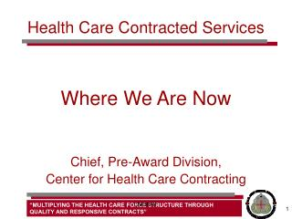 Health Care Contracted Services