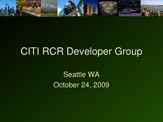 CITI RCR Developer Group