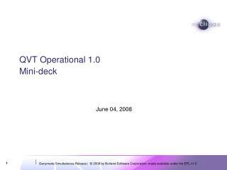 QVT Operational 1.0  Mini-deck