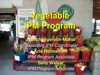 Vegetable IPM Program