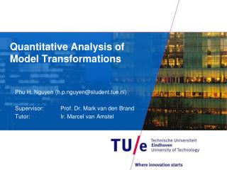 Quantitative Analysis of Model Transformations
