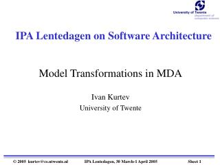 IPA Lentedagen on Software Architecture