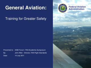 General Aviation: Training for Greater Safety