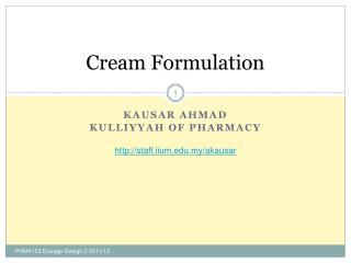 Cream Formulation