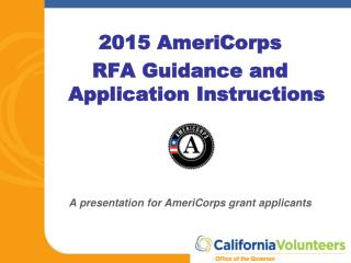 2015 AmeriCorps RFA Guidance and Application Instructions
