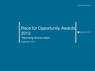 Race for Opportunity Awards 2013