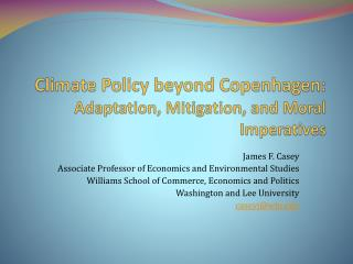 Climate Policy beyond Copenhagen: Adaptation, Mitigation, and Moral Imperatives