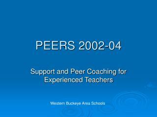 PEERS 2002-04