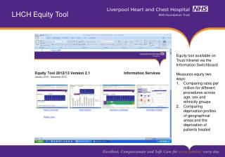 LHCH Equity Tool