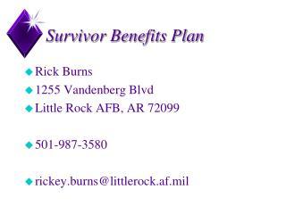 Survivor Benefits Plan