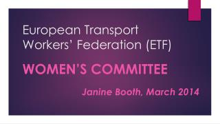 European Transport Workers' Federation (ETF)