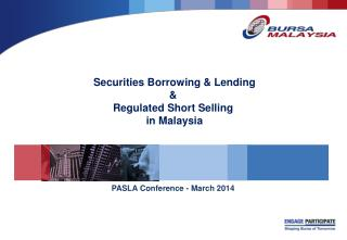 Securities Borrowing & Lending & Regulated Short Selling  in Malaysia