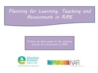 Planning for Learning, Teaching and Assessment in RME