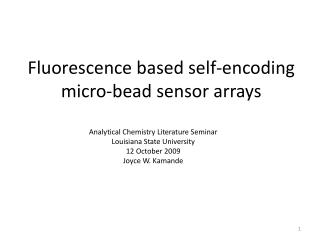 Fluorescence based self-encoding micro-bead sensor arrays