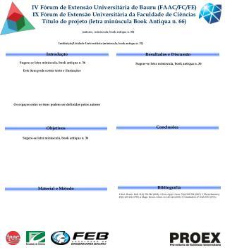 IV Fórum de Extensão Universitária de Bauru (FAAC/FC/FE)